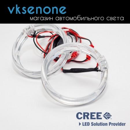 Ангельские глазки 3D Cree, 80мм, белый, 2 шт