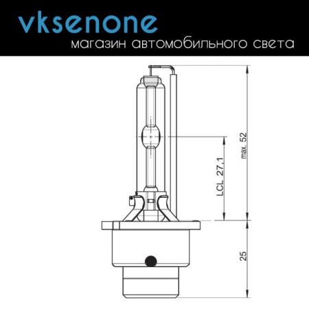Ксеноновая штатная лампа D2S Osram Xenarc Cool Blue Intense 6000K, 35W, 66240CBI