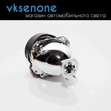 Биксеноновая линза Morimoto mini H1, 2.5 дюйма, отражатель металл